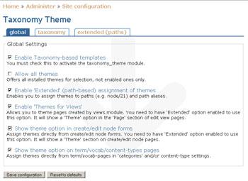 Drupal Taxonomy Theme