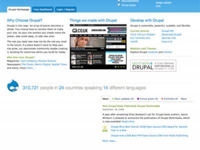 Drupal.org Preparing It's Final Redesign Iteration