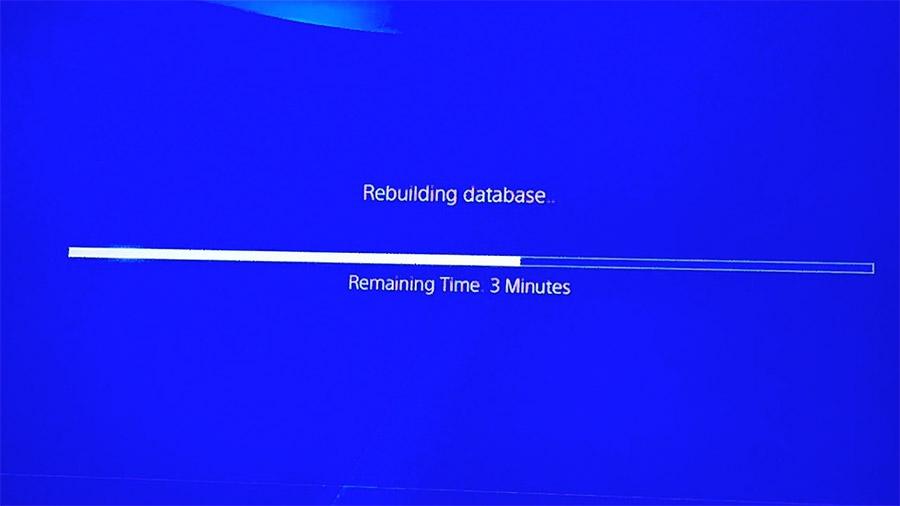Rebuilding database in progress