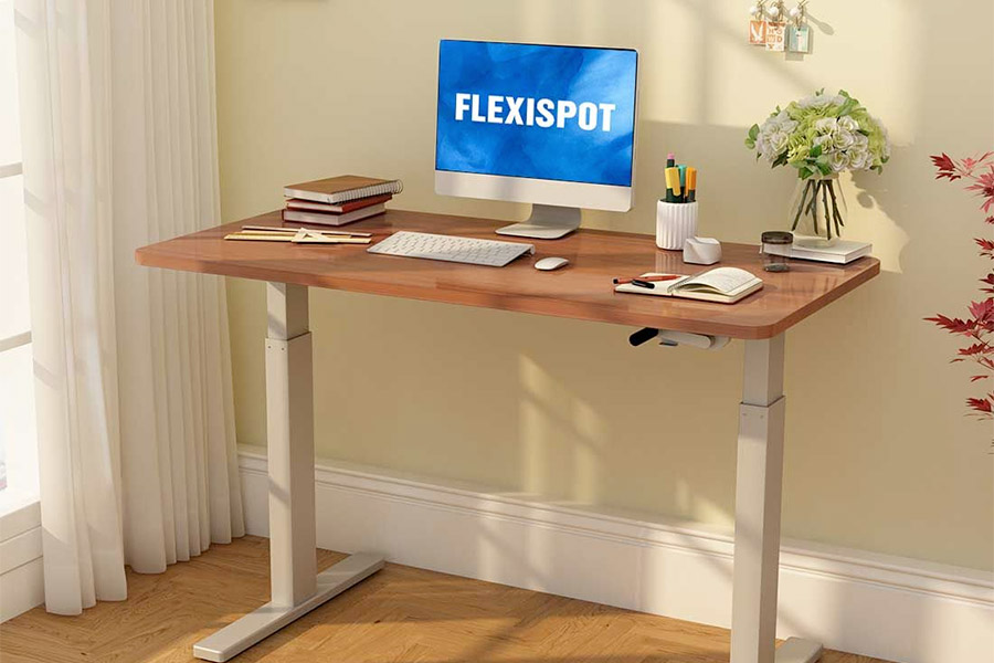 "FlexiSpot 48"" crank height adjustable desk"