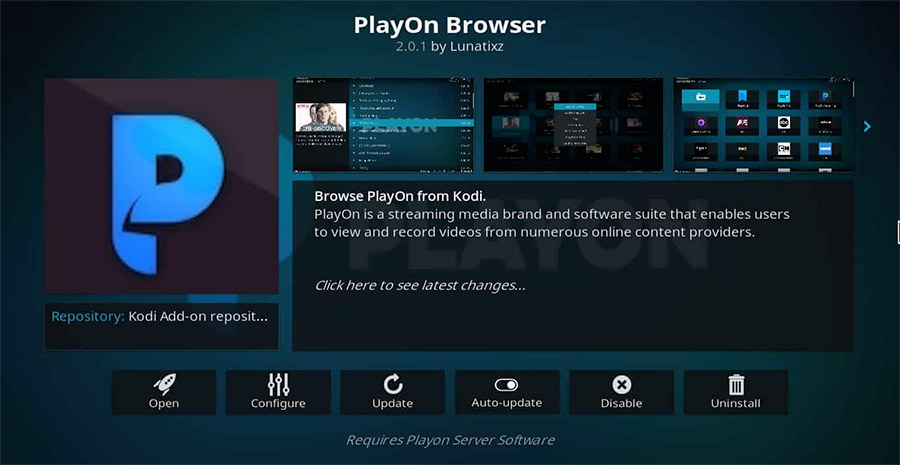 PlayOn Browser addon
