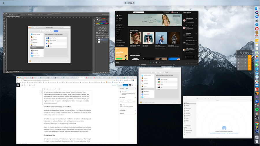 Check for apps running in your Mac