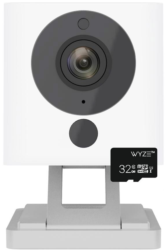 Wyze cam with the microSD card that comes with it